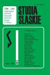 The Silesian problem area in the activity of the Commission for Place Names and Physiographic Objects(with particular inclusion of the years 1989–2009 Cover Image