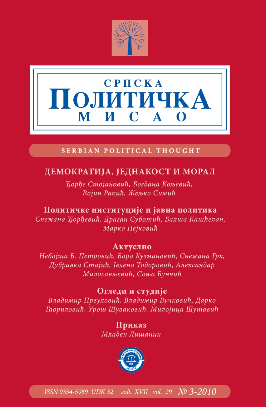 Social Changes and Regulating Position of Political Parties in Kingdom of Serbia and First Two Yugoslav States Cover Image