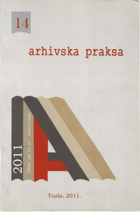 PROTECTION OF ARCHIVAL MATERIAL AT THE NATIONAL ARCHIVES REPUBLIC OF MACEDONIA DURING THE CONFLICT IN 2001. Cover Image