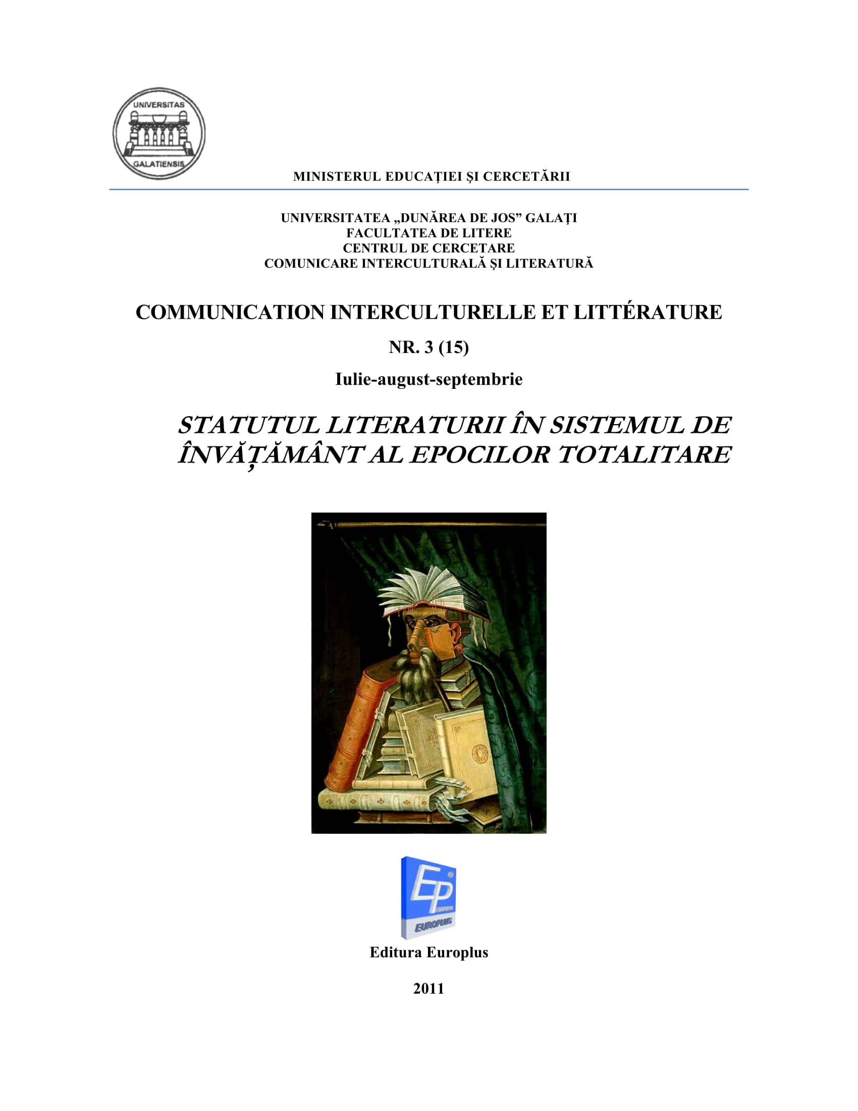 Vasile Lovinescu's Writings. Notes for a Total Hermeneutics