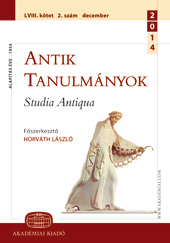Hungarian Byzantineology is the 20/21. at the turn of the century Cover Image