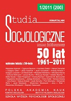 Circumstances Surrounding the Development and Status of Studia Socjologiczne in Polish Sociology Cover Image