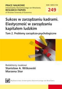 b51b9e33187d5f Sukces zawodowy w perspektywie jutra. Professional success in the  perspective of tomorrow. Author(s): Katarzyna Januszkiewicz