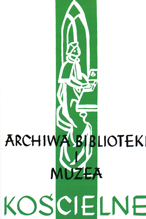 THE DIOCESAN ARCHIVE IN RZESZÓW. ESTABLISHMENT, FONDS AND ACTIVITY. Cover Image