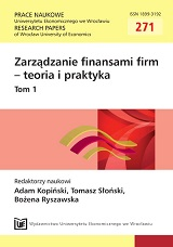 Capital structure and diversification of family firms listed on the Warsaw Stock Exchange Cover Image