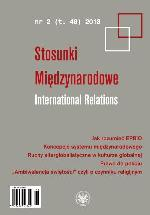 Ambiguous Character of Religious Factor in International Relations Cover Image