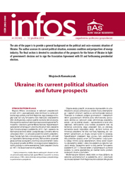 Ukraine: its current political situation and future prospects Cover Image