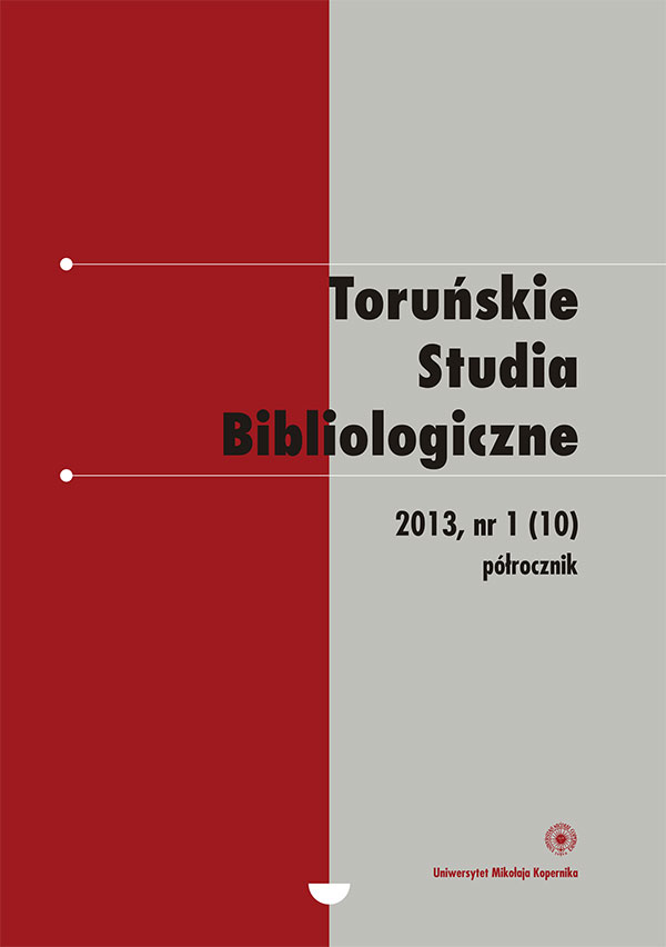 """Digital school - that is?"". A conference to celebrate the 90th anniversary of the Pedagogical Library in Toruń (Toruń, 14 November 2012) Cover Image"