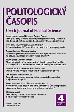 The Dynamics of Pre-electoral Issues and Policy Space Transformation in Slovakia: Can Two Years Change Anything? Cover Image