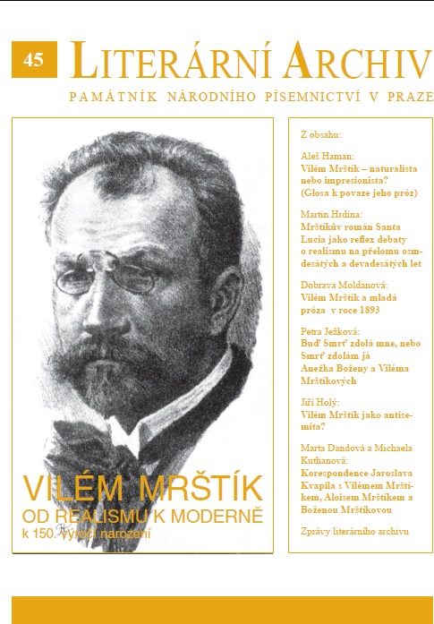 Mrštík's novel Santa Lucia as a Reflection of the Debates about Realism in the Late 1880s and early 1890s Cover Image