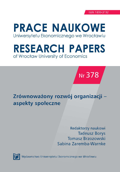 Measurement and evaluation of socially responsible business activities − research results Cover Image