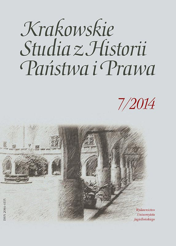 """Coram iudicio"". Studies of Legal Culture in Towns in Late Medieval Poland, ed. Agnieszka Bartoszewicz, DiG Publishing House, Warszawa 2013, 166 p. Cover Image"