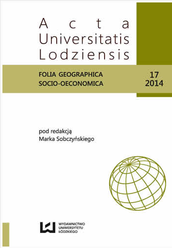 National and ethnic minorities in Poland from the perspective of political geography Cover Image