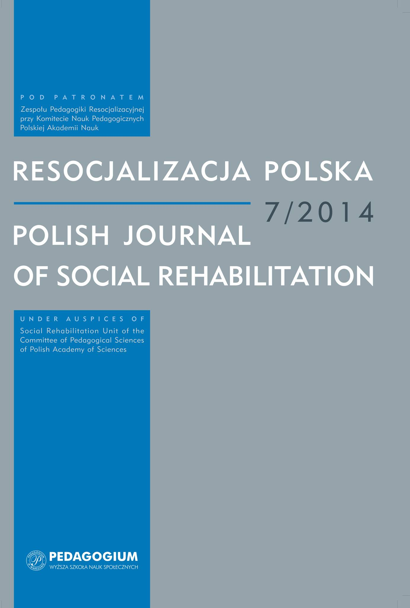 The convict's family as a participant in his penal resocialisation, readaptation and social reintegration Cover Image
