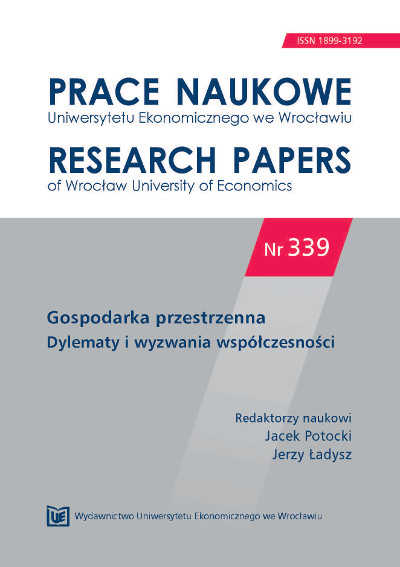 Evaluation of suburbanisation process in selected communes of Poznań district in the years 1999-2009 Cover Image