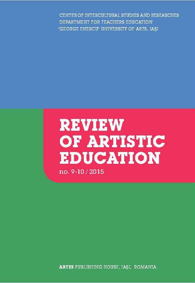 TOWARDS AN INTEGRATED APPROACH TO ARTS CURRICULUM AND PEDAGOGY Cover Image