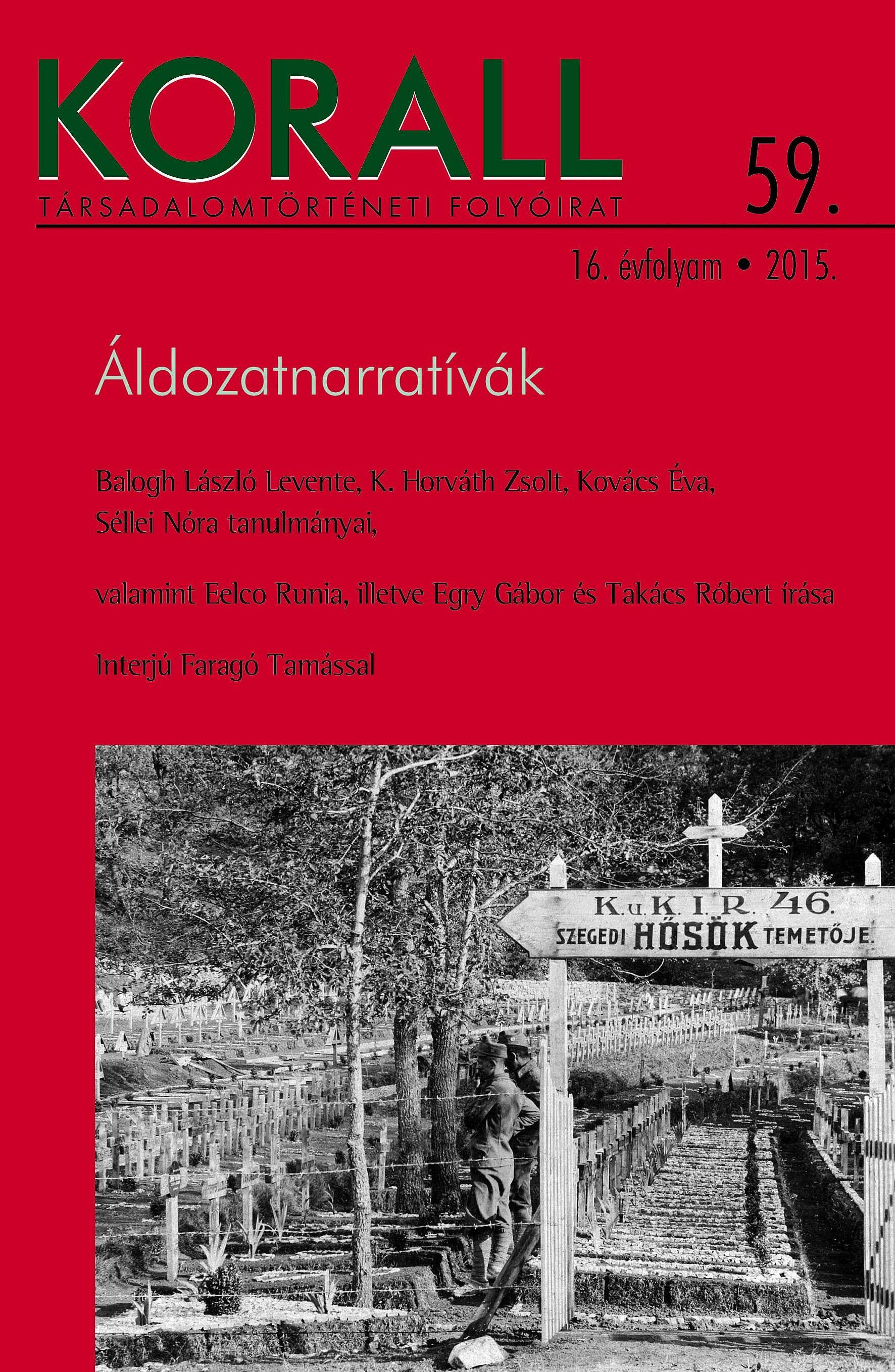 The Female Body as Victim and Sacrificial Object – Polcz Alaine's One Woman in the War: Hungary, 1944–45 Cover Image
