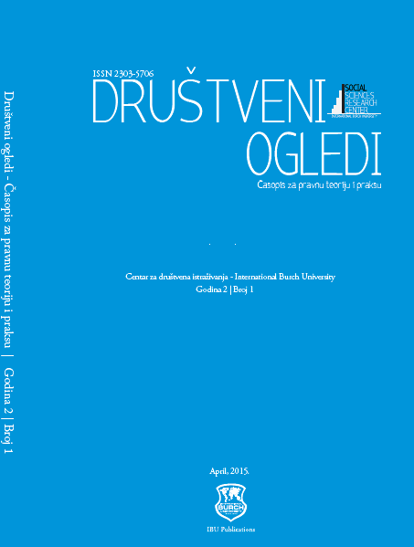 Novelties in the Field of Alternative Measures and Sanctions in Juvenile Criminal Law in Bosnia and Herzegovina Cover Image