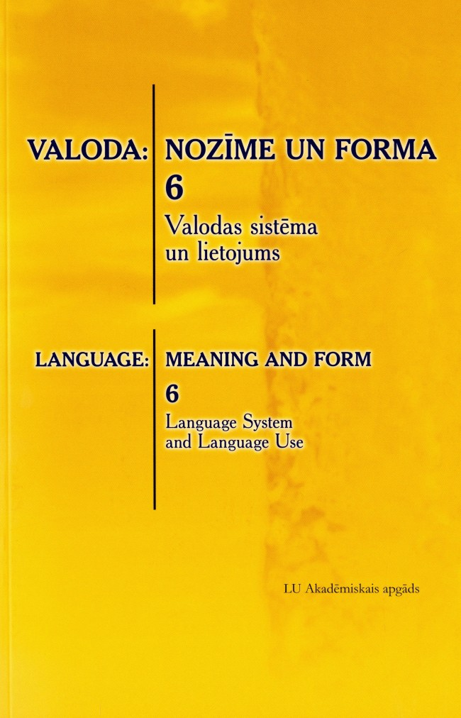 Latin compounds and translation possibilities in Latvian Cover Image