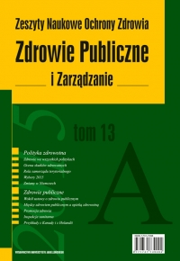 Analysis of the Pricing System of Specialist Ambulatory Health Services in Poland on the Background of Foreign Solutions for and Model Theory Cover Image