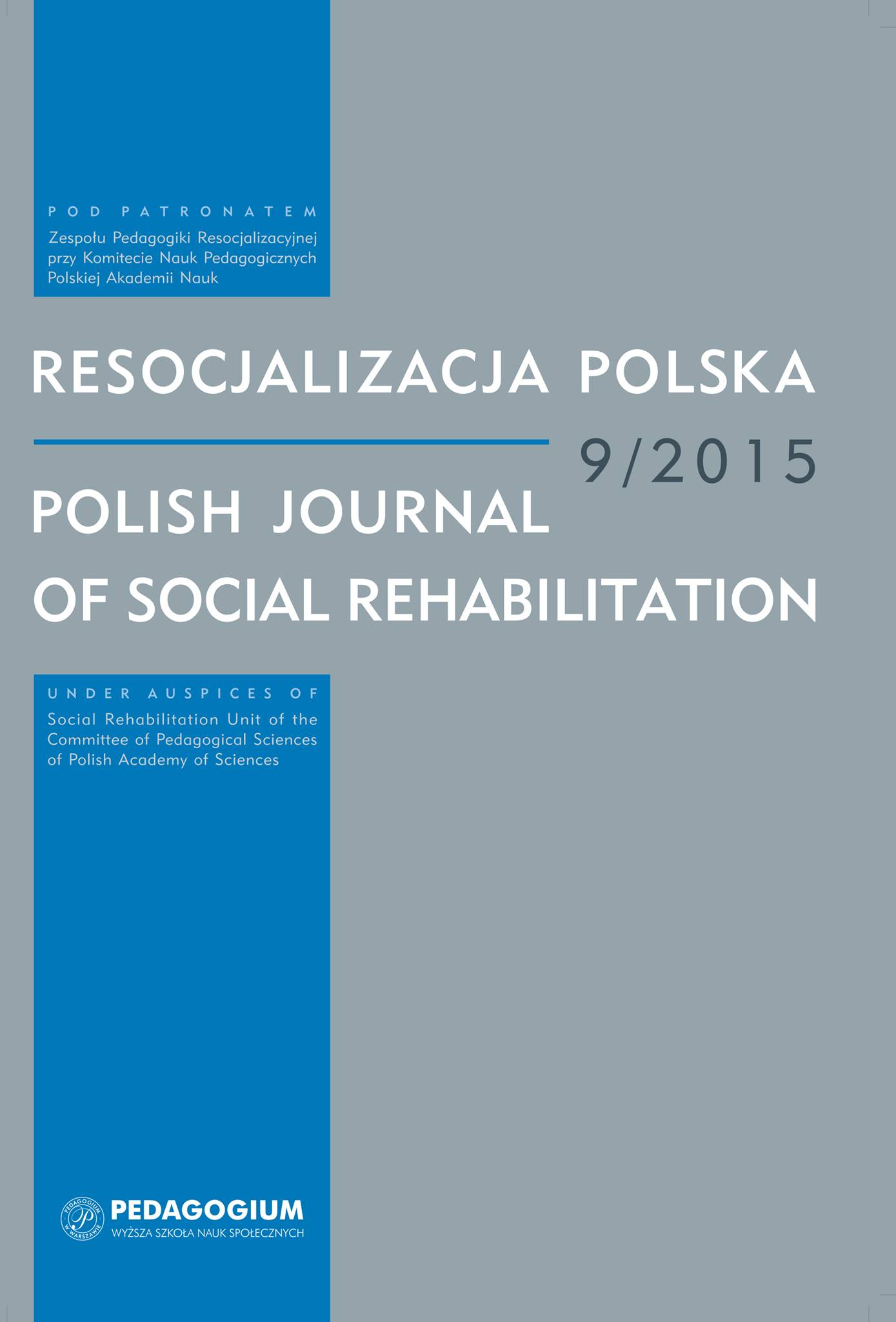 Social Rehabilitation of Minors in the United States of America Cover Image