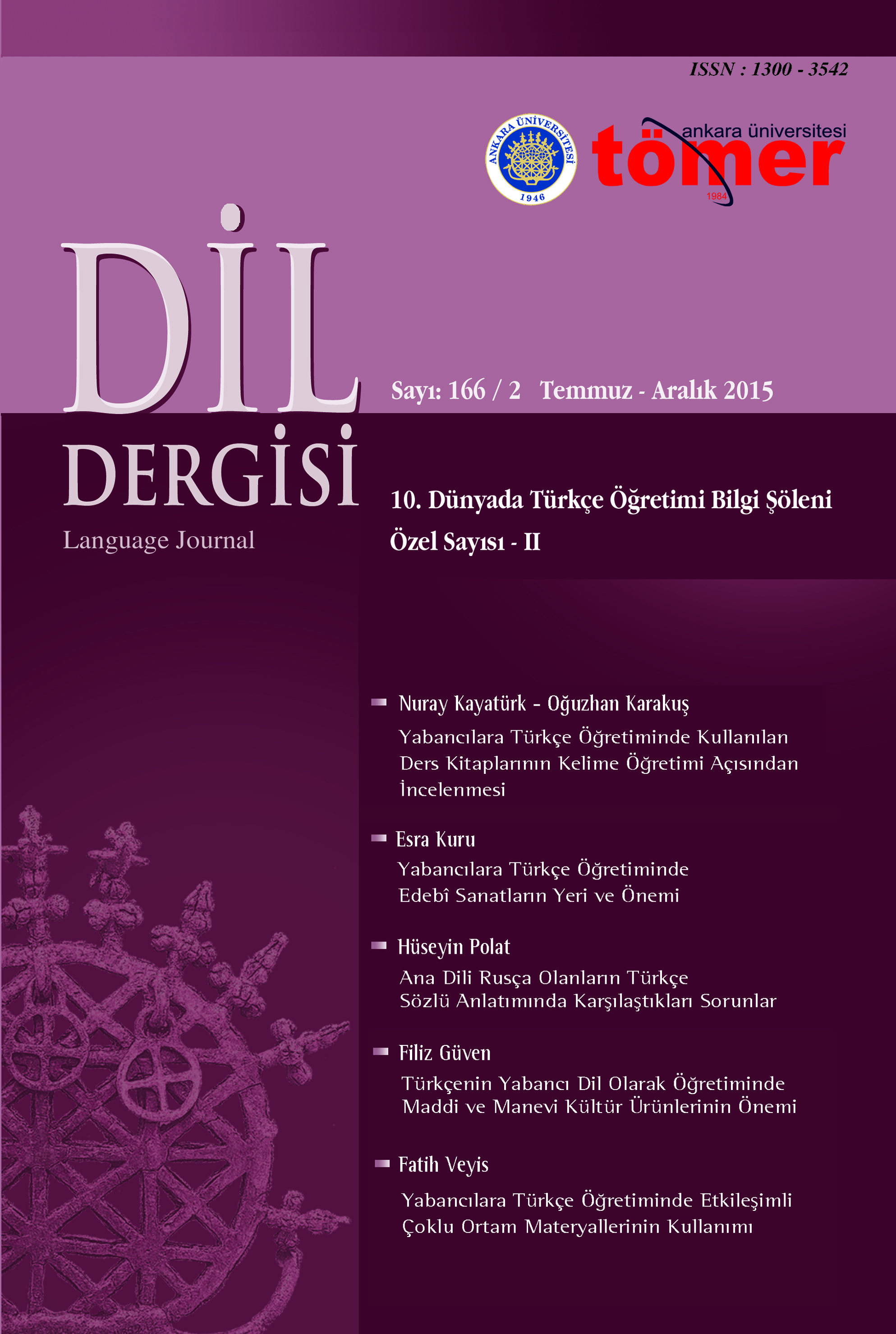 Mistakes of Russian Native Speakers in Turkish  Language Oral Expression Cover Image