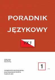 Premiera, dinozaur, budżet (premiere, dinosaur, budget) – on new neosemanticisms in the Polish language Cover Image