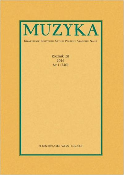 'Music in the heart, a heart for music'. The Influence of Stanisław Węsławski (1896–1942) on the Development of Musical Life in Vilnius Cover Image