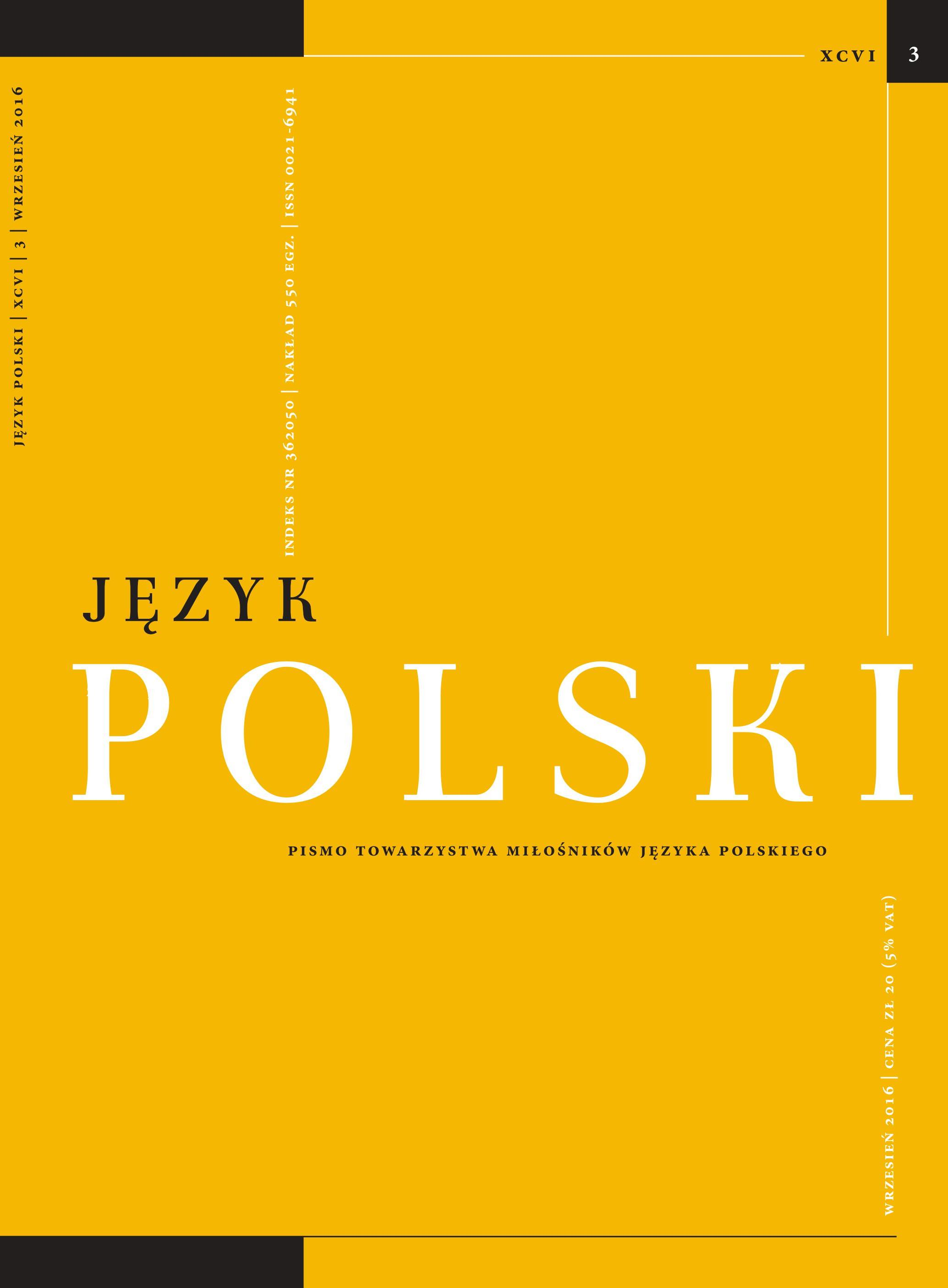 """Conceptual Dictionary of Old Polish"" – characteristics Cover Image"