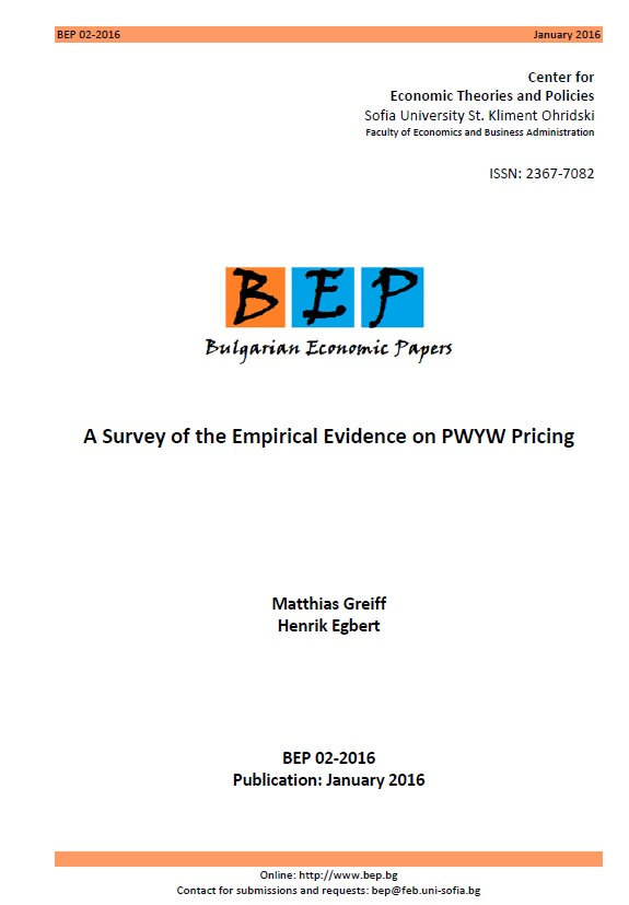 A Survey of the Empirical Evidence on PWYW Pricing