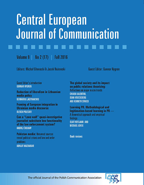Forms of local media relations in local communities – case studies Cover Image