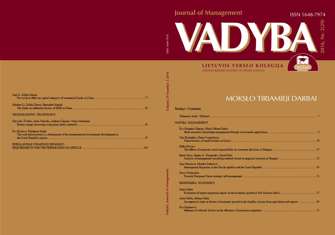 ANALYSIS OF MANAGEMENT CONSULTING METHODS BASED ON EMPIRICAL RESEARCH IN HUNGARY