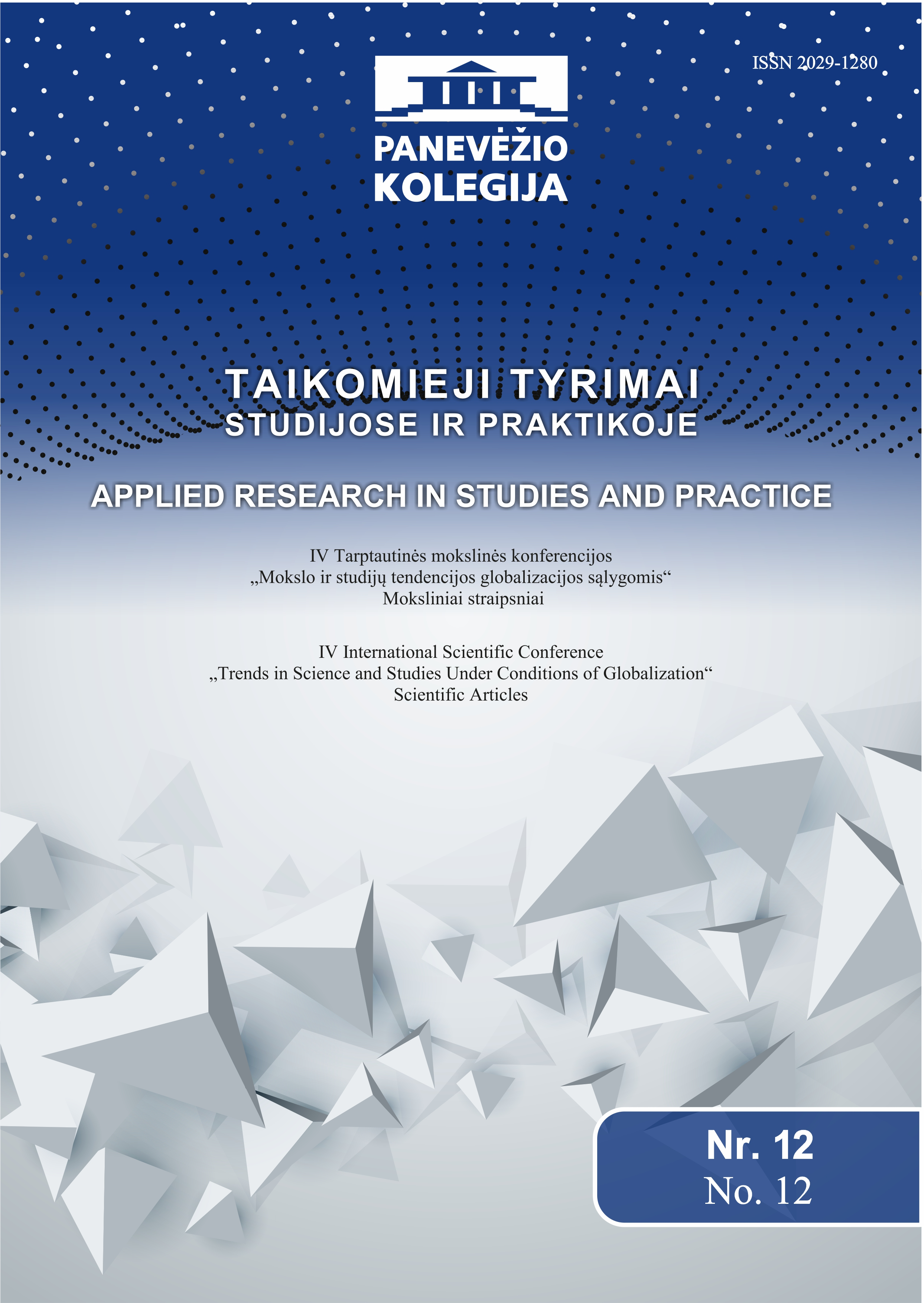 Learning Methods Using in a Student-centred Process – Lithuania Case Cover Image