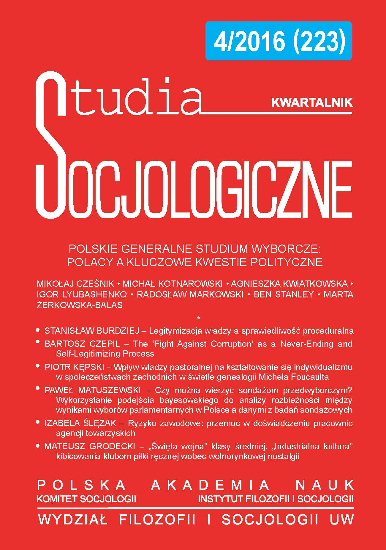 The Ideological Essence of the Left–Right Dimension in Poland in the Years 1997-2015 Cover Image