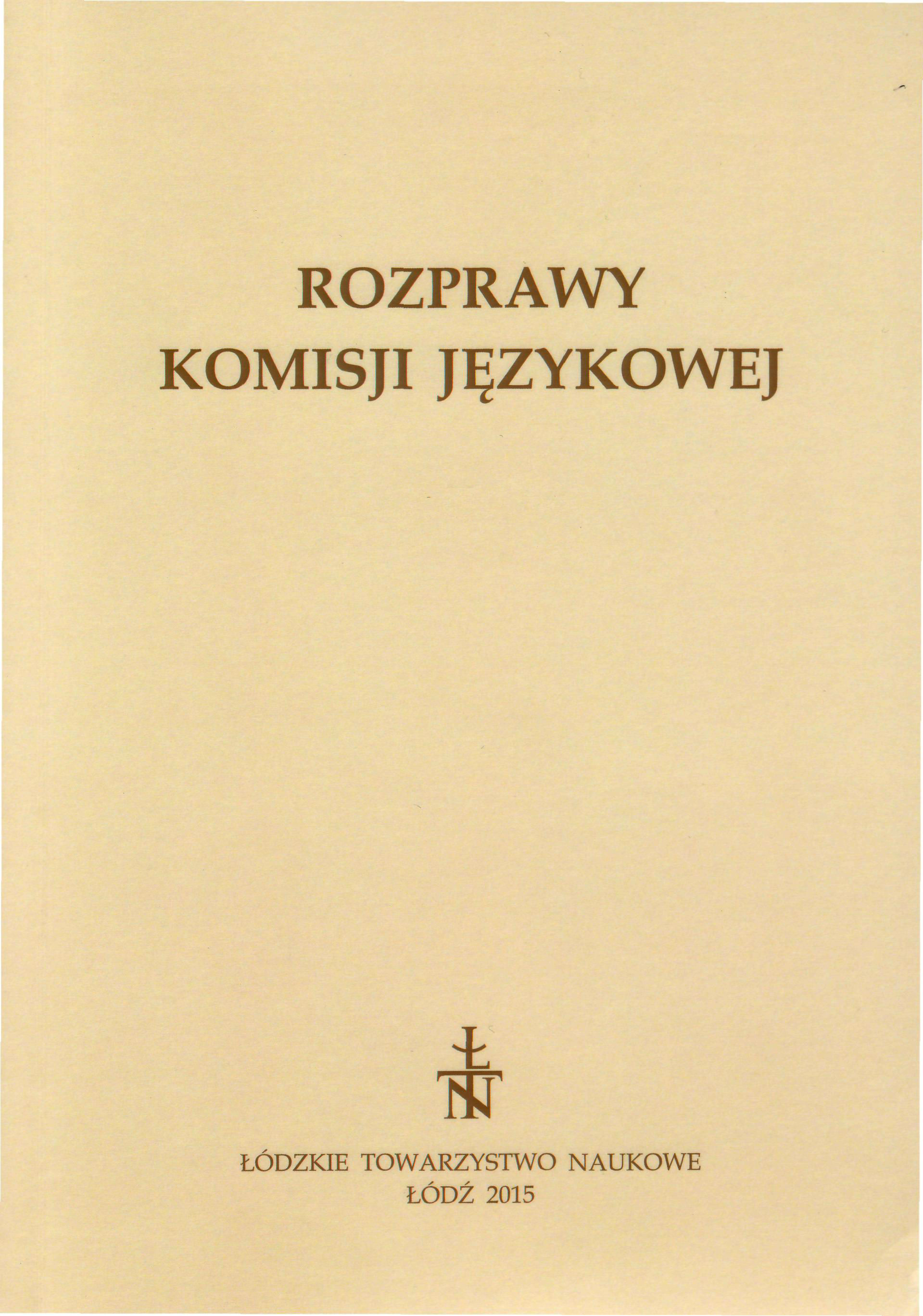 Plans for researches on microtoponyms in Poland. Statement Cover Image