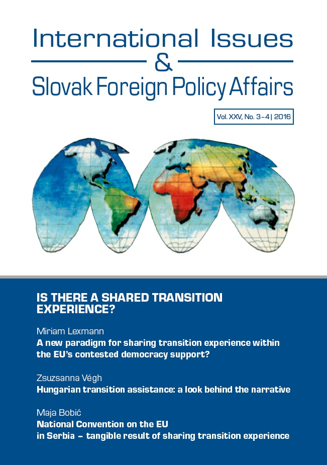 A new paradigm for sharing transition experience within the EU's contested democracy support?