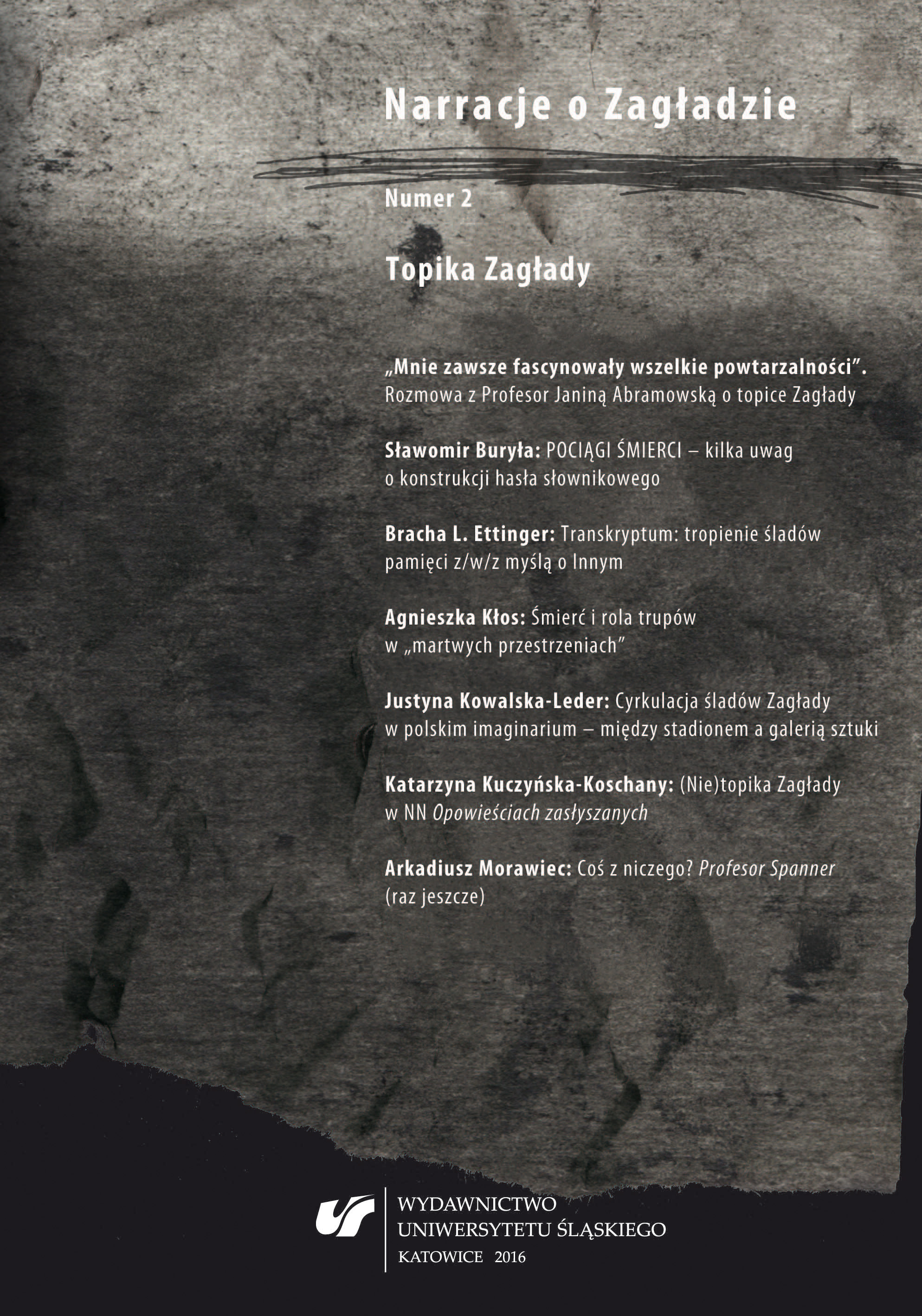 "The (Non‑)topos of the Holocaust in ""Opowieści zasłyszane"" Cover Image"