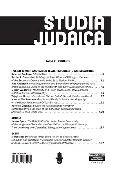 Jewish toll collectors in the grand duchy of Lithuania in the seventeenth and eighteenth centuries Cover Image