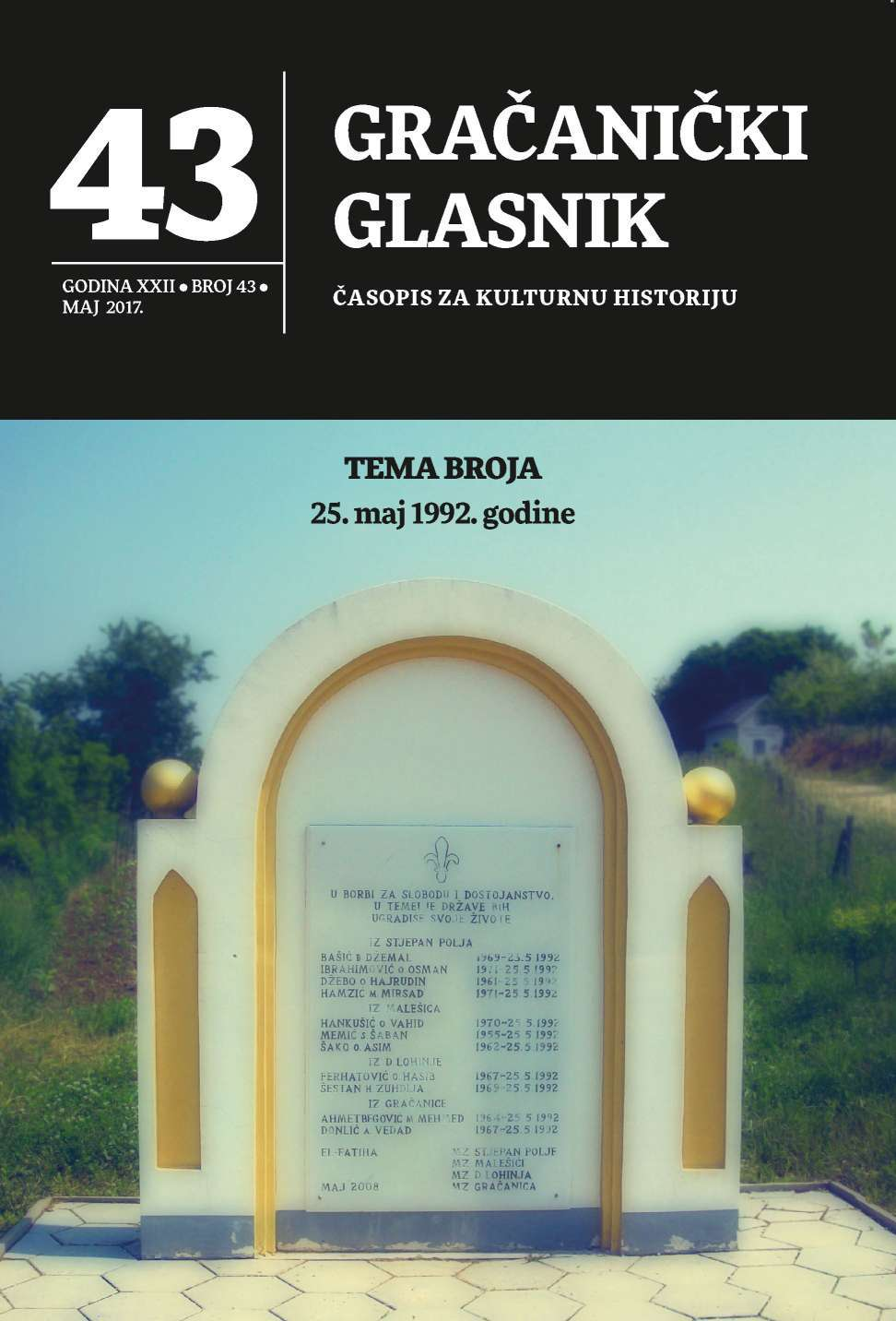 They Gave their Lives for Bosnia (Zmaj Od Bosne, Br. 38, 26. V. 1993.) Cover Image