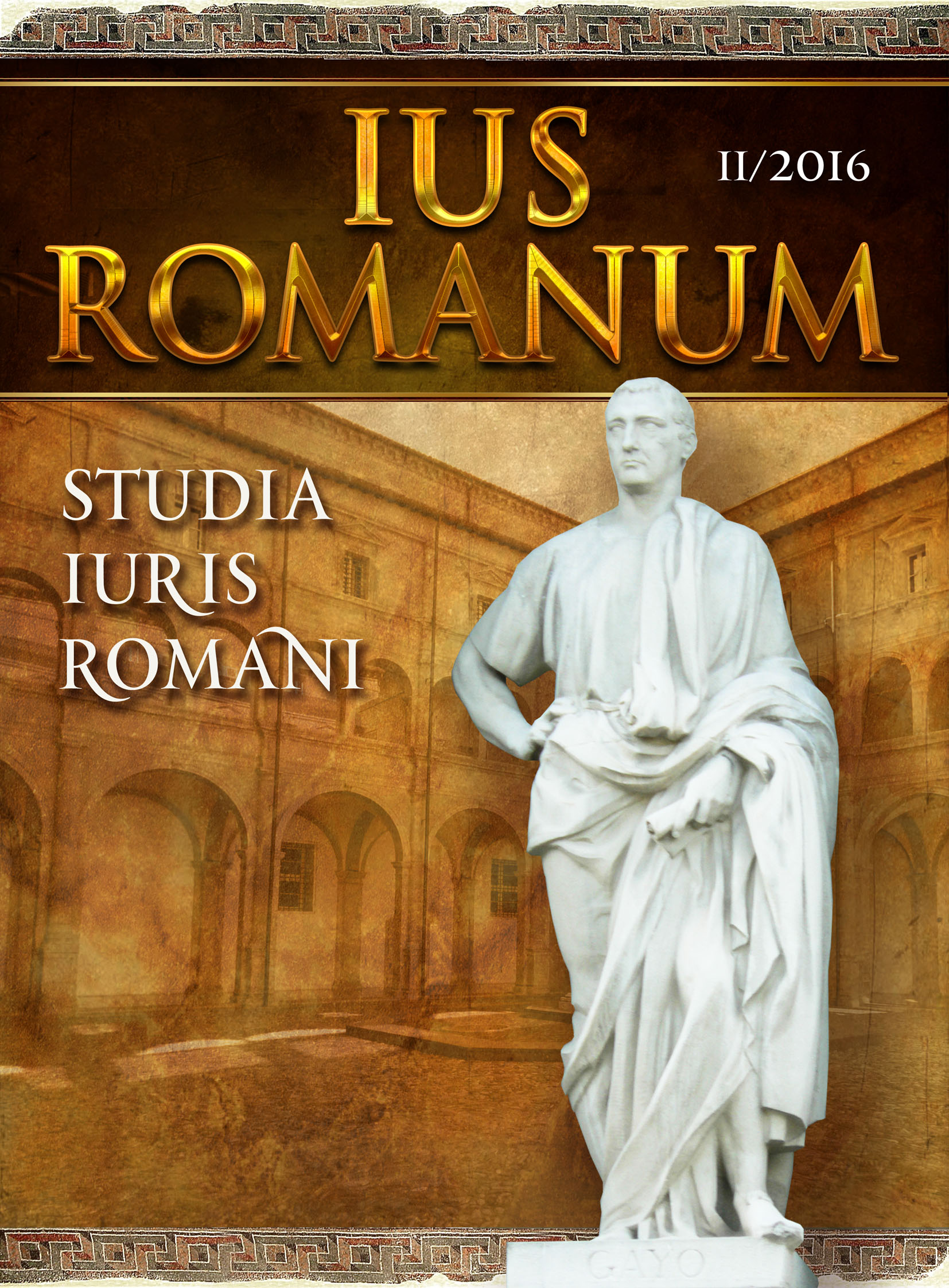 ETHICS AND ROMAN LAW IN THOUGHT OF АNTONIO ROSMINI Cover Image