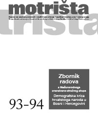 Demographic crisis in Croatian population in Bosnia and Herzegovina in a view of health aspects Cover Image