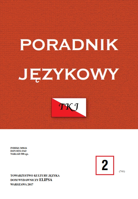 (Im)proper language use in grammars books of Polish from the Age of Enlightenment Cover Image