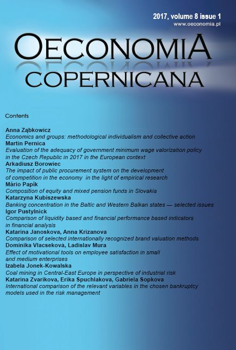 THE IMPACT OF PUBLIC PROCUREMENT SYSTEM ON THE DEVELOPMENT OF COMPETITION IN THE ECONOMY IN THE LIGHT OF EMPIRICAL RESEARCH Cover Image