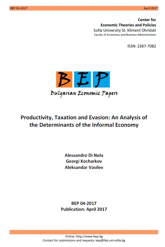 Productivity, Taxation and Evasion: An Analysis of the Determinants of the Informal Economy Cover Image
