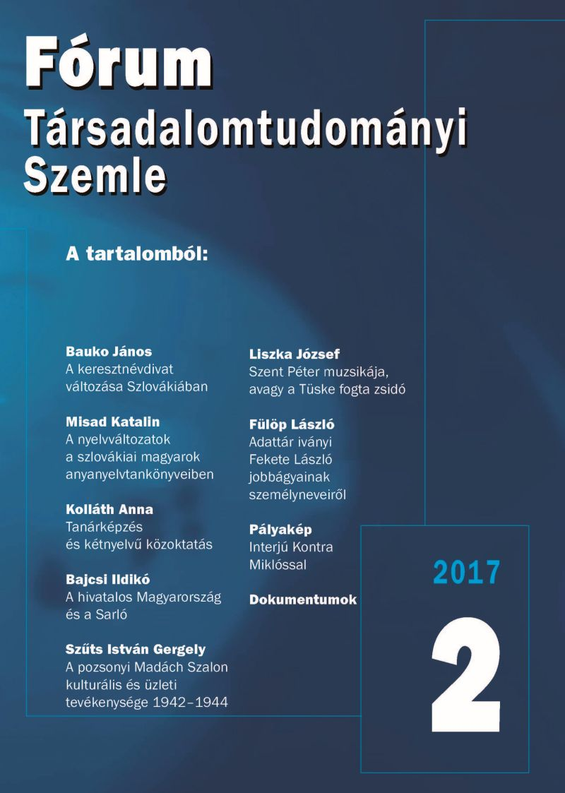 Demonstration of Language Variation in Hungarian Textbooks of First Language in Slovakia Cover Image
