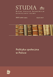 Polish social policy in 1989–2016 – successes and failures Cover Image