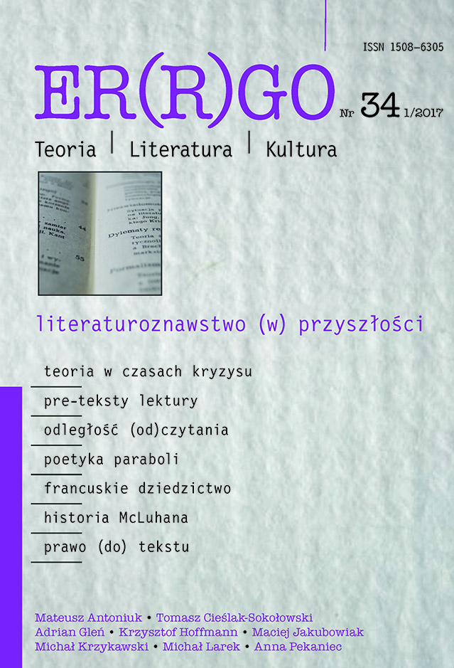 "The Pleasure of the Pre-Text. The Text-Making Process as a Question for Polish ""Literary Studies of/in the Future"" Cover Image"