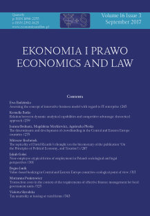 The determinants and development of crowdfunding in the Central and Eastern Europe countries Cover Image