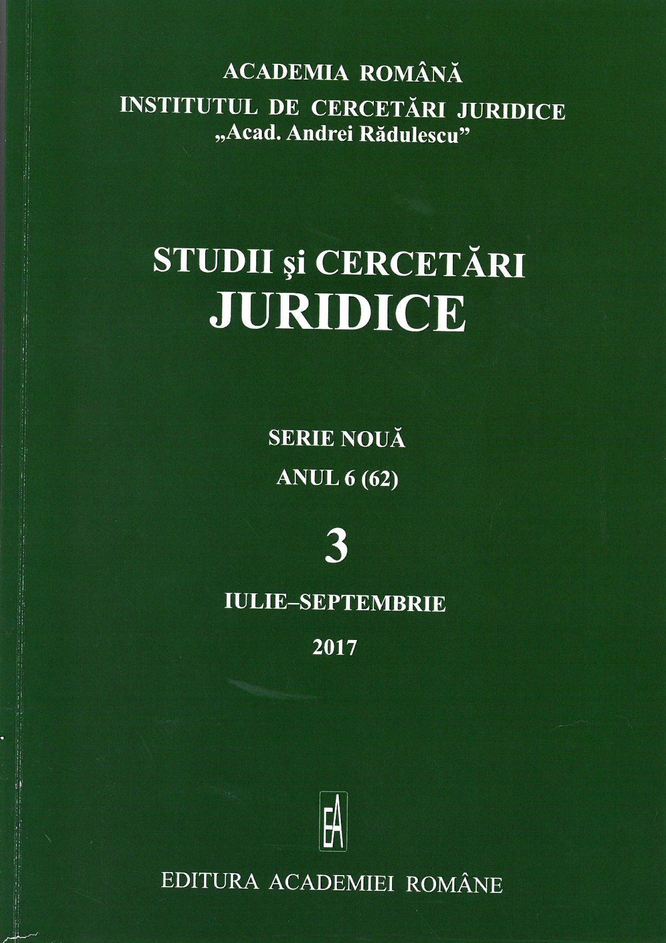 «Arid Legal Science» Constantin Noica´s View on Law and Legal Scienc Cover Image