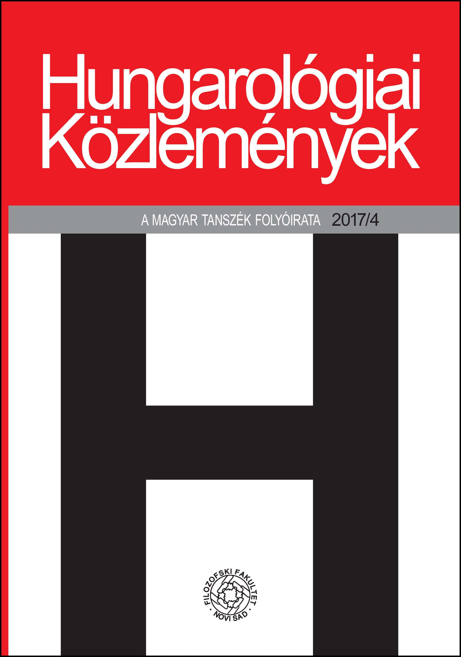 Methodological Possibilities of Contextualisation in a Hungarian Literary History Written in Romanian Cover Image